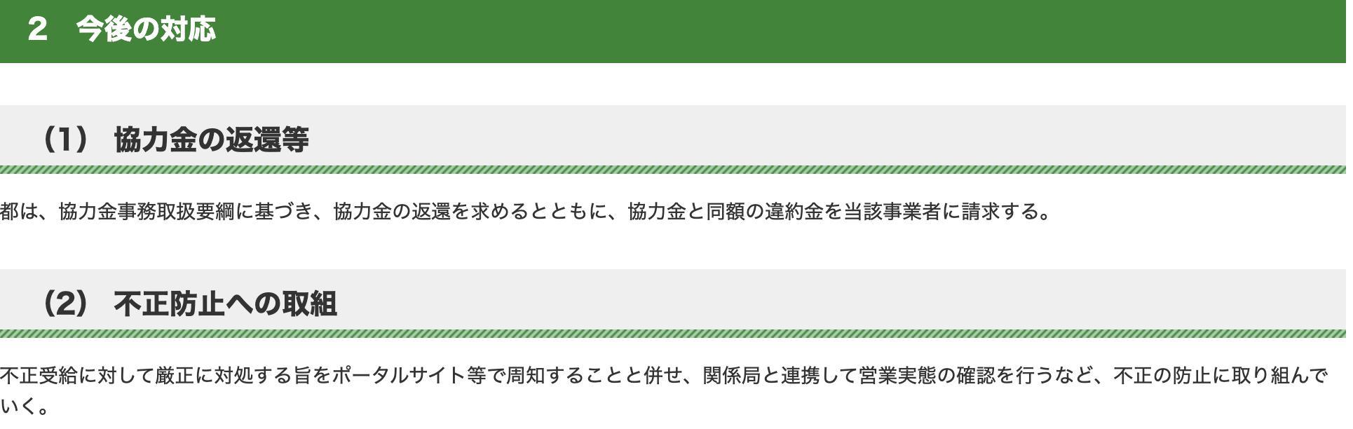 スクリーンショット 2021 06 28 20.25.24 - 【閉店】カゲロウ恵比寿(KAGEROU ebisu/トミーがオーナー)に協力金不正受給疑惑!違反した場合どのような罰則があるのか